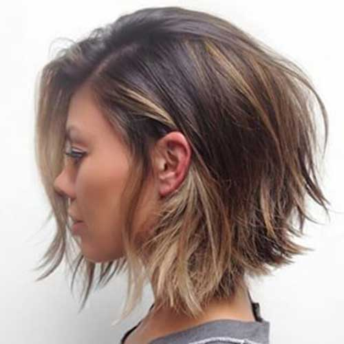 Short Layered Bob Cuts-8