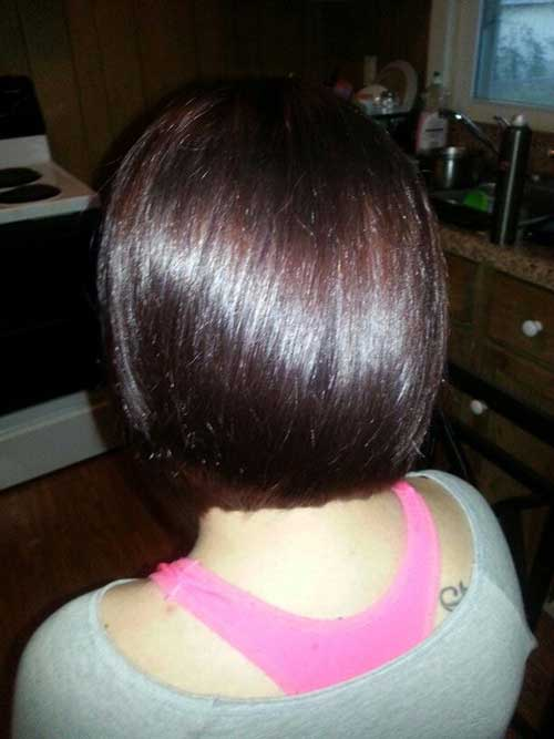 Back View of Straight Inverted Dark Bob
