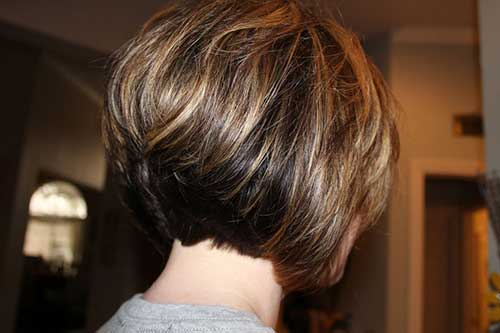 Back View of Thick Inverted Bob Hair