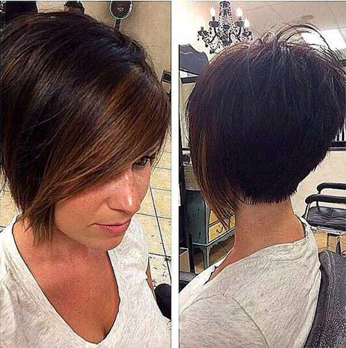 Beautiful Short Cut Bob Back View