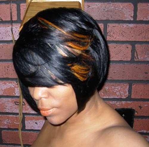 Highlighted Black Women Bob Haircuts