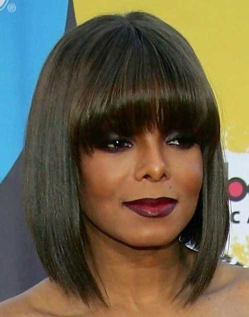 Black Women Bob Cuts with Blunt Bangs
