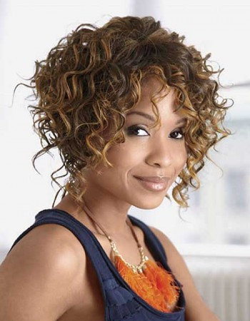 Black Women with Curly Bob Hairstyles