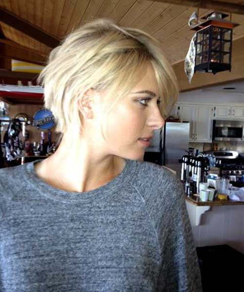 Blonde Edgy Bob Haircut