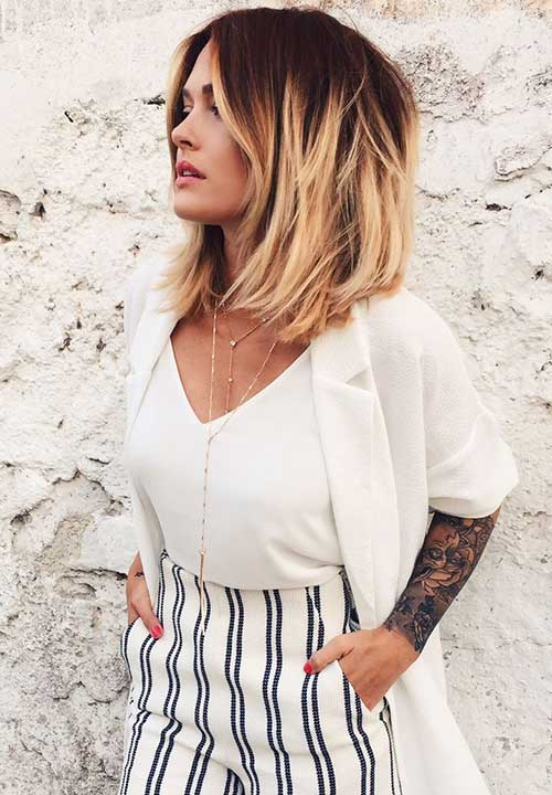Cool Blonde Ombre Bob