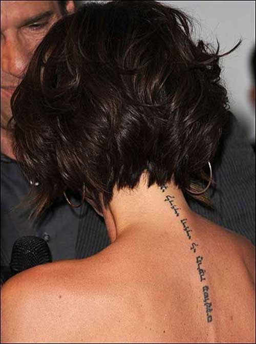 Bob Cut for Thick Wavy Hair Back View