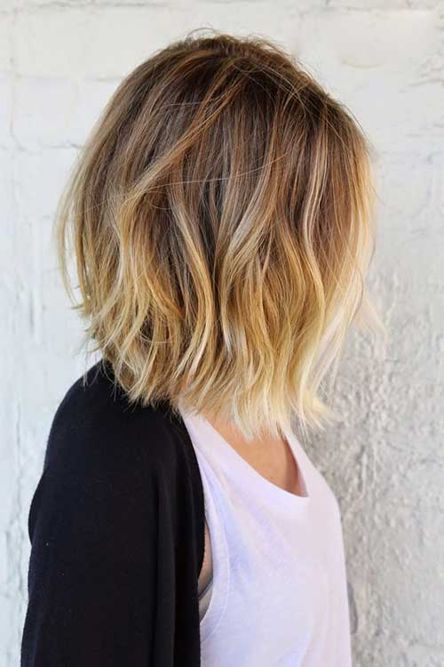 Highlighted Bob Hair Color
