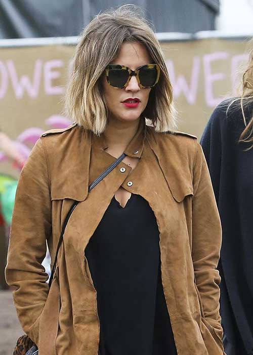 Long Bob Haircut with Ombre