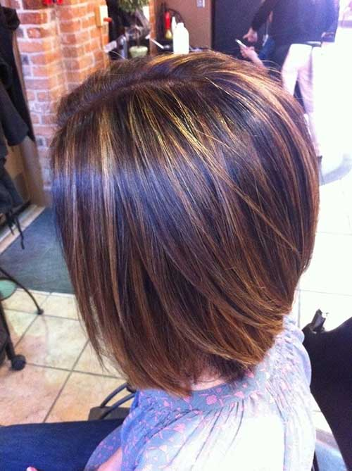 Bob Haircuts With Blonde Highlights Color