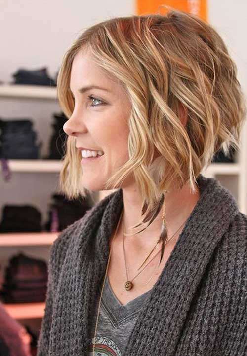 Blonde Bob Haircuts for Thick Wavy Hair