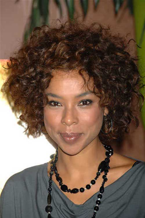 Curly Bob Hairstyles Black Woman