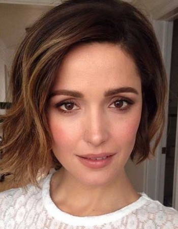 Side Swept Brown Bob