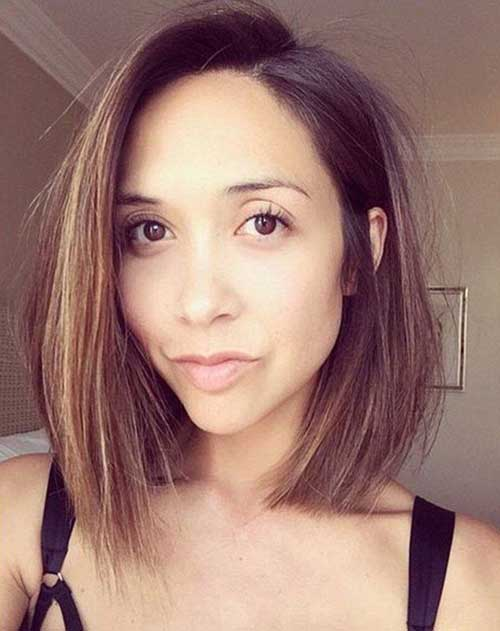 Best Brunette Long Bob Cut