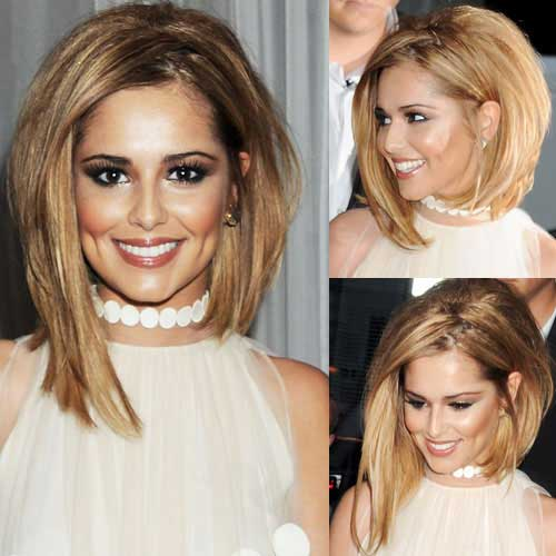 Cheryl Cole Long Asymmetrical Bob