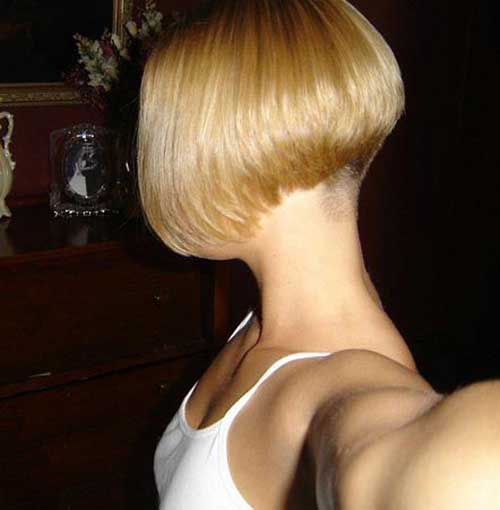 Chic Bob Shaved Nape Side View