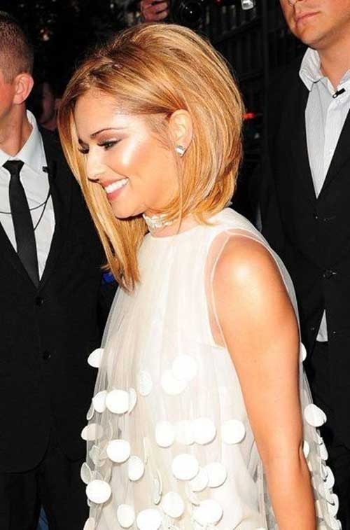 Chic Cheryl Long A Line Bob Haircut