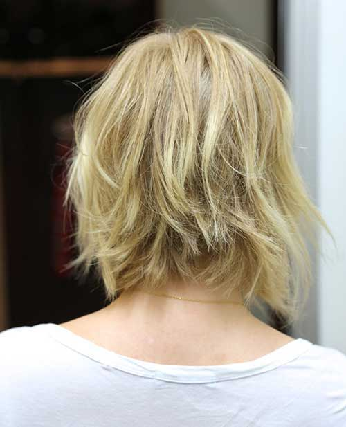 Best Choppy Bob Hairstyles Back View 2014