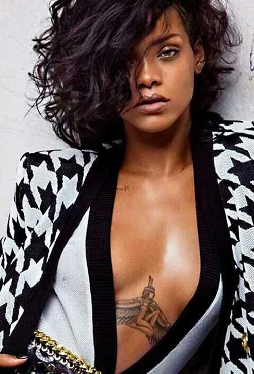 Curly Asymmetrical Bob Haircuts 2015