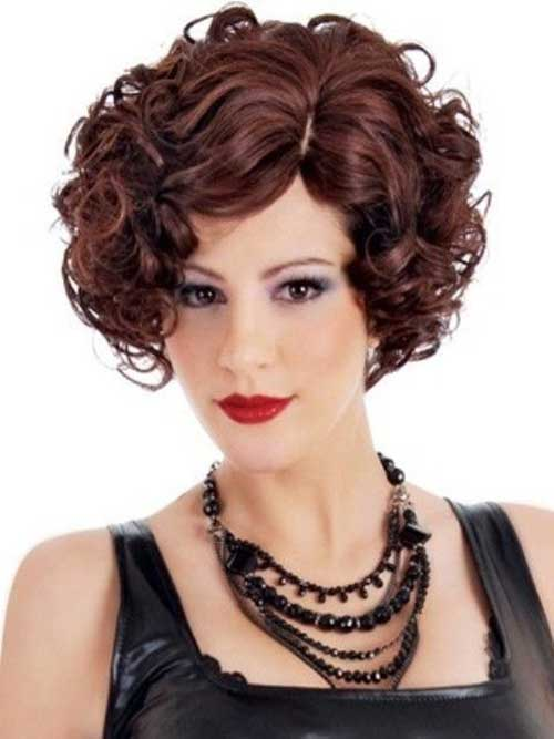 Curly Chic Bob Hair Cuts 2014