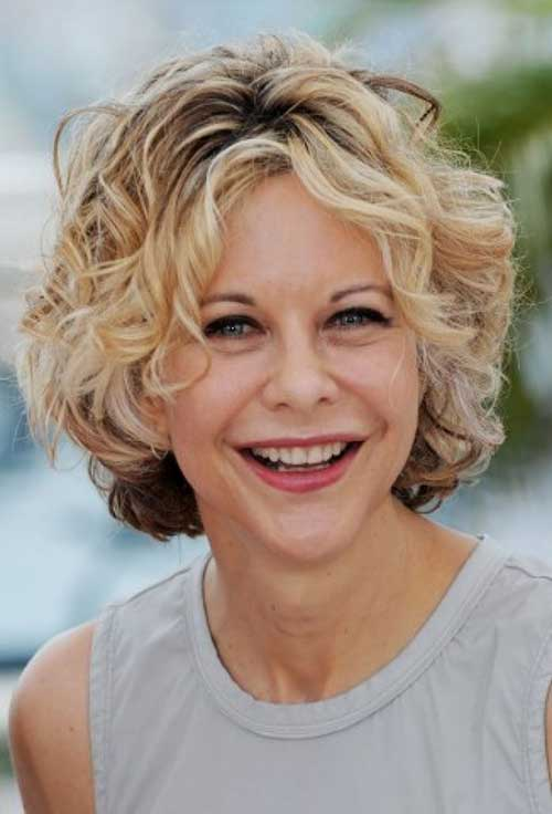 Curly Thick Bob Hairstyles for Over 40