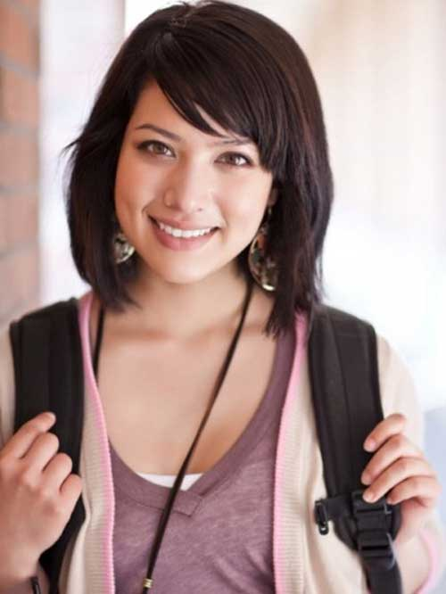 Cute Layered Medium Bob with Bangs Ideas