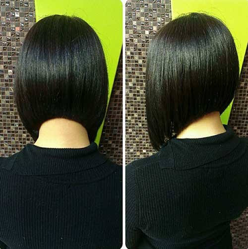 Dark Bob Hairstyles Back View for Girls