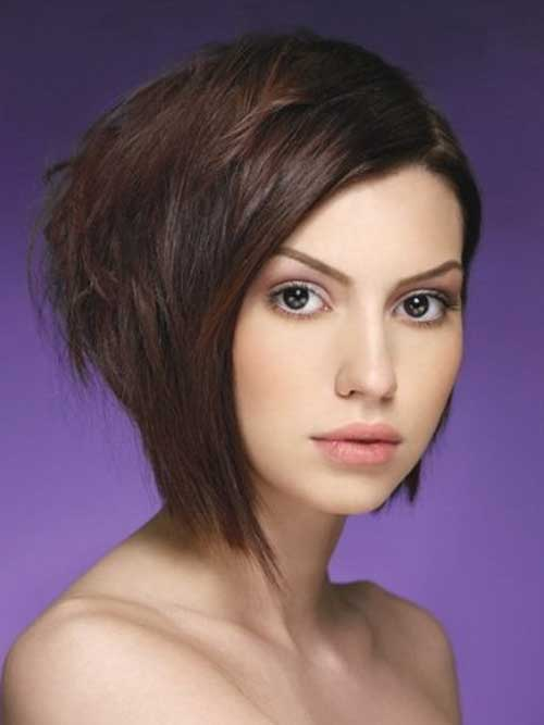 Dark Colored Half Bob Style
