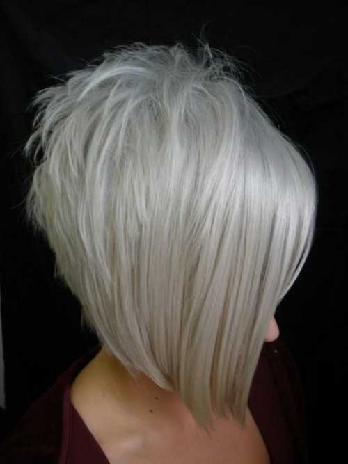 Edgy Platinum Blonde Bob Hairstyles