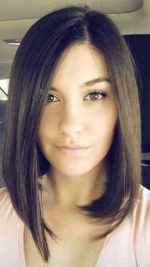 Fine Long Bob Dark Hair
