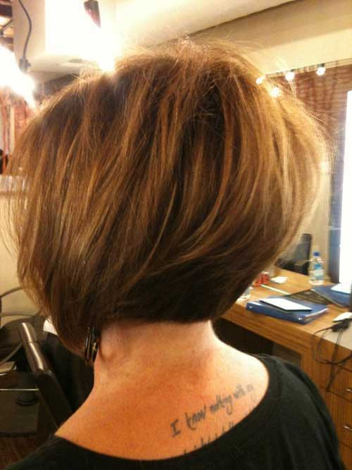 Graduated Brown Bob Cut