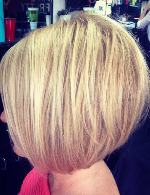 Graduated Blonde Bob Hair