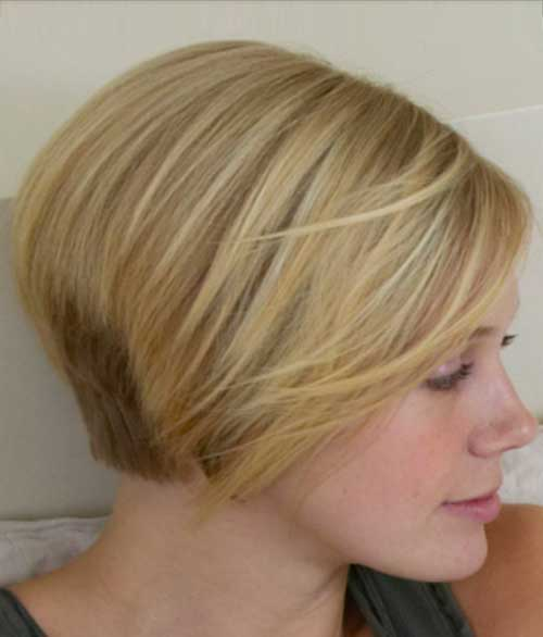 Graduated Blonde Bob Hairstyle