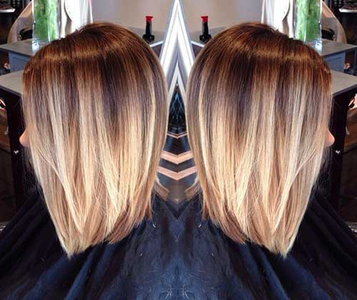 Ombre Hair Color Idea For A Line Bob
