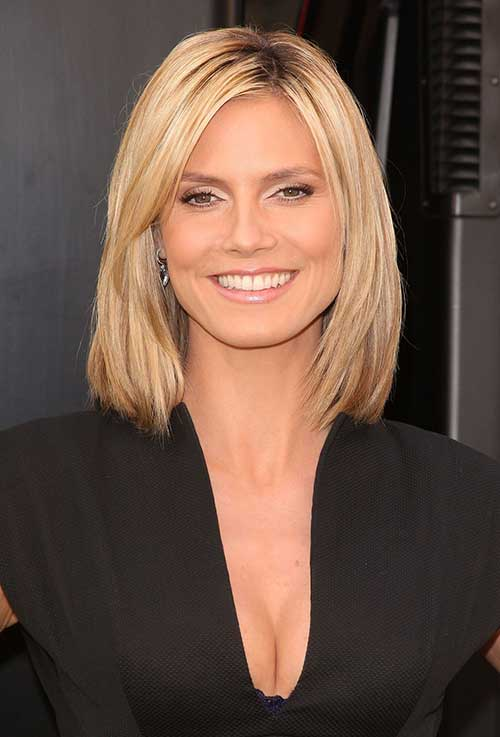 Best Heidi Klum Blonde Thin Bob Haircuts