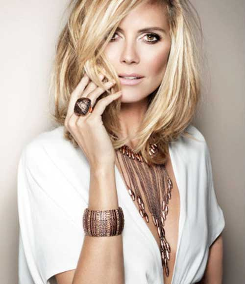Heidi Klum Blonde Bob Haircut