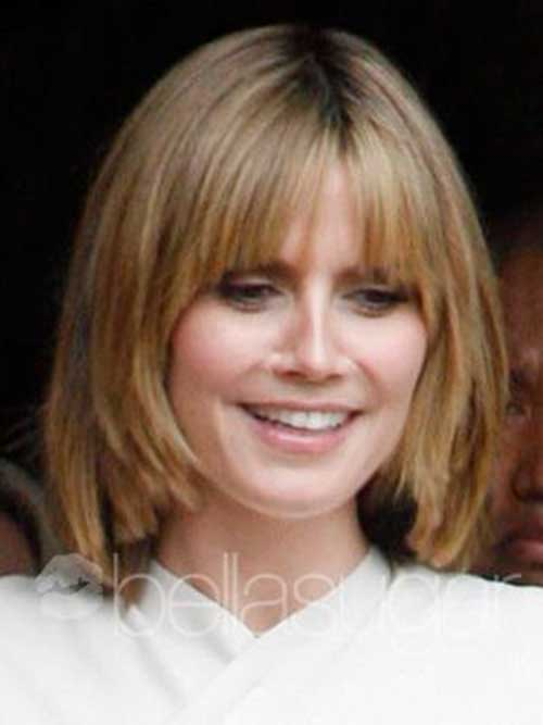 Heidi Klum Light Brown Bob with Bangs