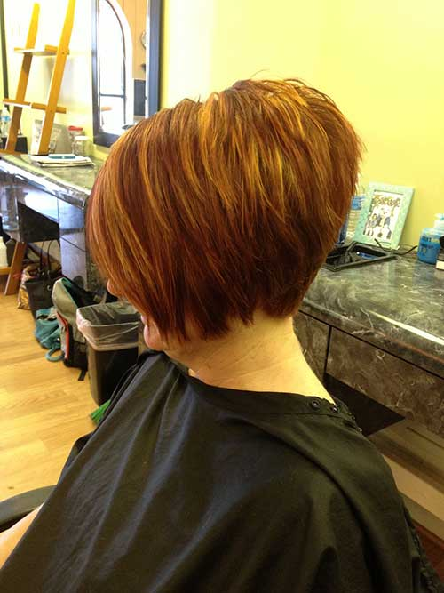 Stacked Bob Hairstyles wedge cut for fine hair improve your styles with short stacked hairstyles back view we Highlighted Layered Stacked Bob Hairstyles