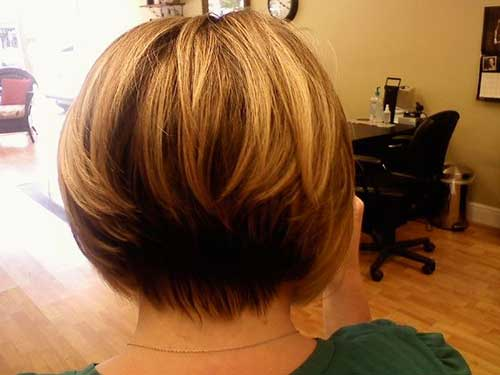 Straight Inverted Bob Hairstyles Back View