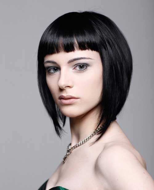 Inverted Bob for Thick Dark Hair
