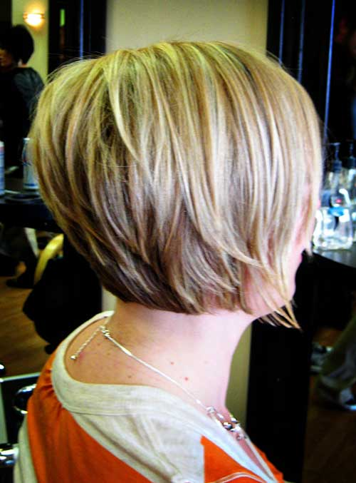 Layered Stacked Bob Blonde Hairstyles