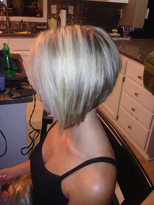 Layered Stacked Blonde Bob