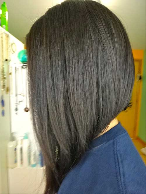 Long Asymmetrical Bob Haircuts 2015