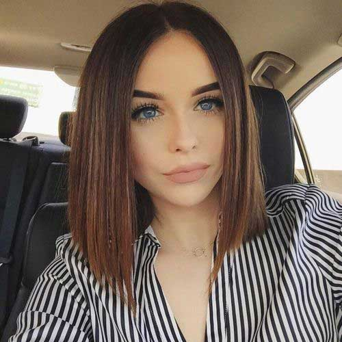 Long Beautiful Line Bob Hairstyles 2015