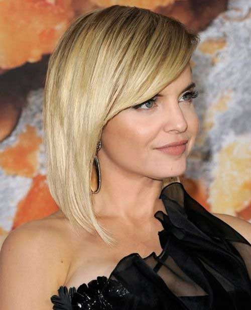 Pleasant 15 Latest Long Bob With Side Swept Bangs Bob Hairstyles 2015 Hairstyles For Women Draintrainus
