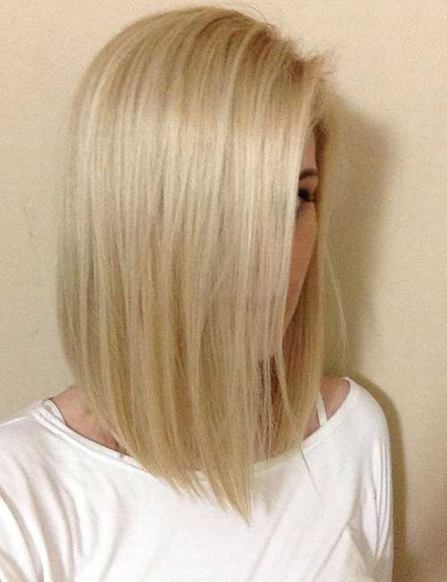 Long Bobs Hairstyles Blonde Colors