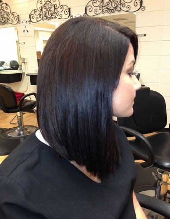 Long Inverted Dark Bob Hairstyles