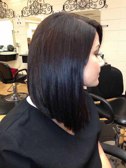 Long Inverted Dark Bob Hairstyles