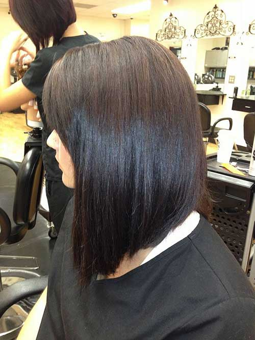 Super Long Inverted Dark Bob Thick Hair