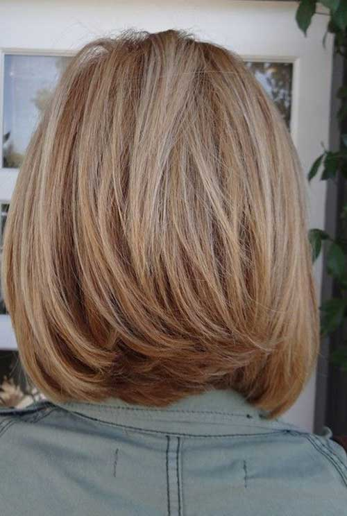 Medium Layered Bob Back View 2015
