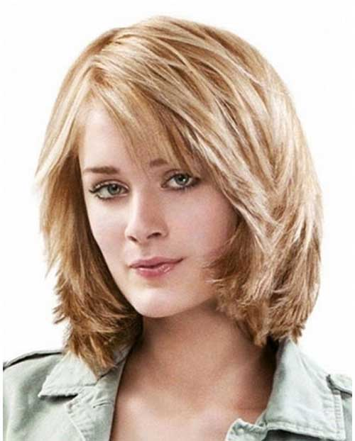 Messy Layered Medium Bob with Bangs Ideas